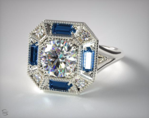 Vintage Sapphire Engagement Rings from James Allen