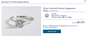A Petite Cathedral Solitaire | Engagement Ring Voyeur