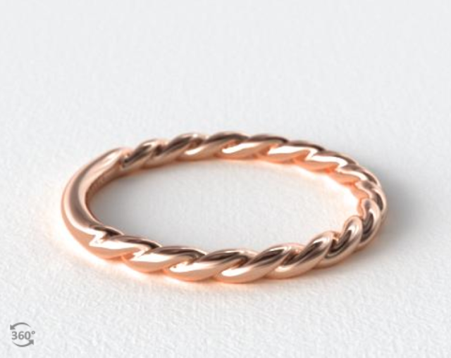 Cabled wedding ring from James Allen