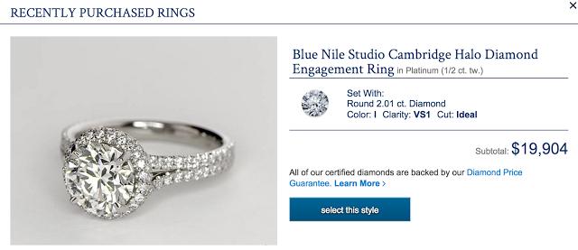Blue Nile Cambridge Setting