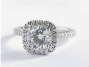 Blue Nile Arietta Cushion Halo Diamond Engagement Ring - $11,186 | Engagement Ring Voyeur
