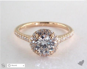 James Allen Falling Edge Halo Setting | Engagement Ring Voyeur