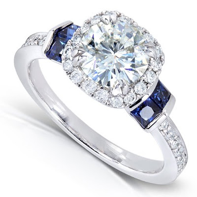 Moissanite Engageent Rings on Amazon