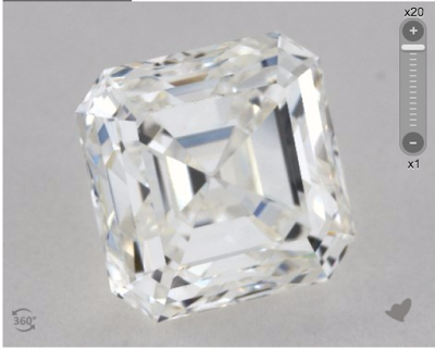 1.22 ct asscher diamond