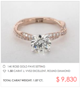 James Allen Twisted Pave Setting Under $10,000 | Engagement Ring Voyeur