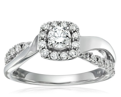 Pave engagement ring from Amazon