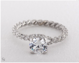 Danhov Eleganza Engagement Ring Setting | Engagement Ring Voyeur