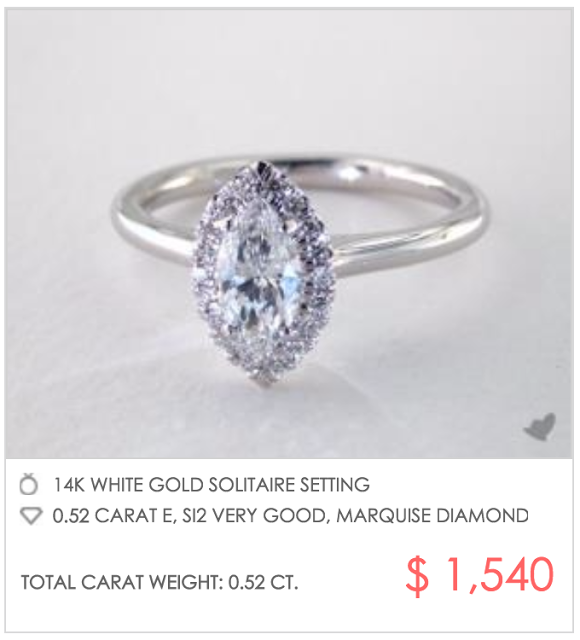marquise halo under $2000