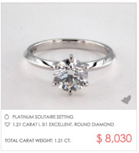 Tiffany & Co Six-Prong Setting Under $8000 | Engagement Ring Voyeur