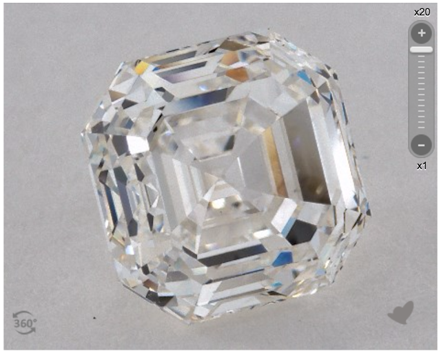 A 3.54 I-VS1 Carat Asscher diamond from James Allen