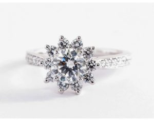 Starburst Floral Engagement Ring $6,575 | Engagement Ring Voyeur