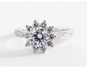 Starburst Floral Engagement Ring $6,575 | Engagement Ring Voyeur