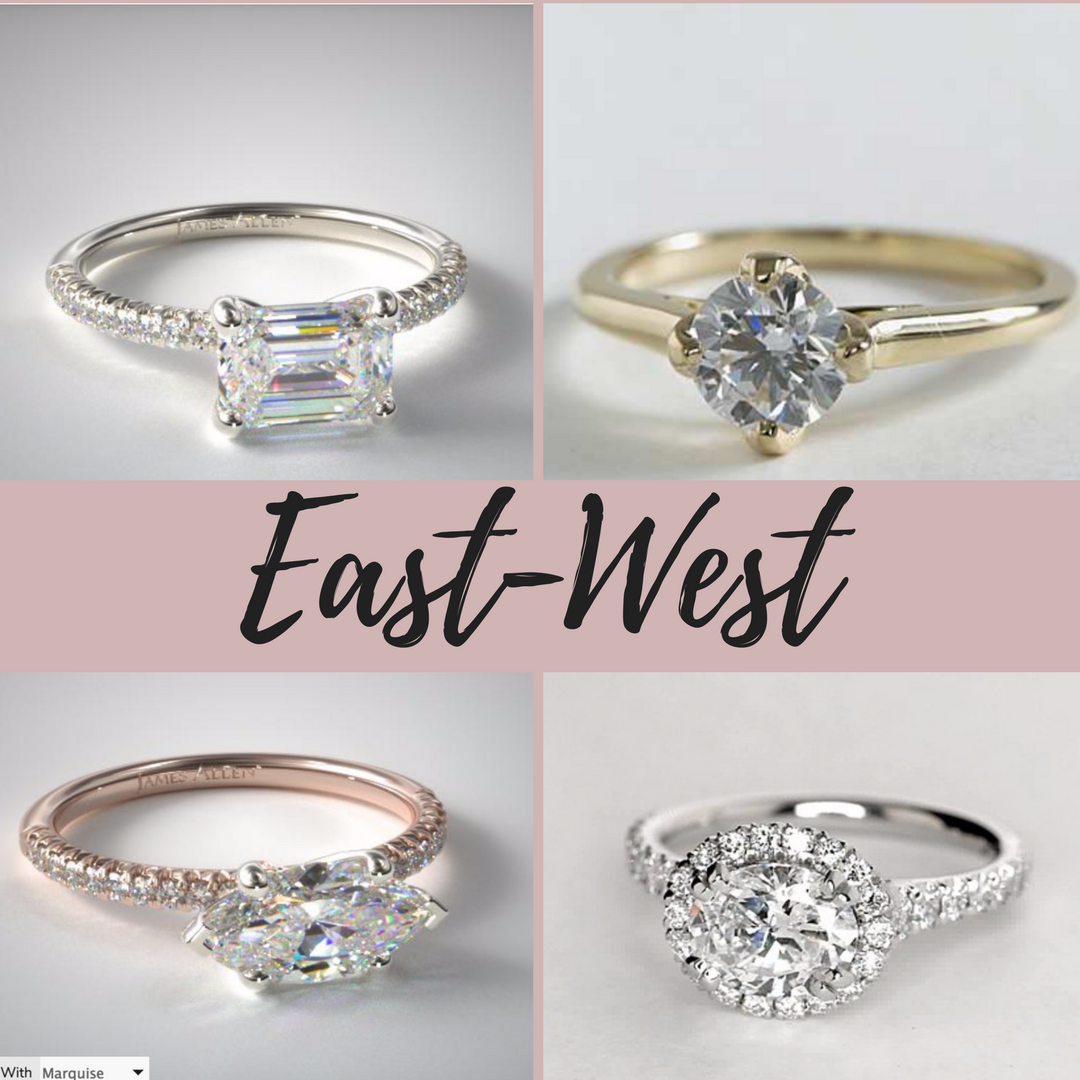 East West Engagement Ring Settings