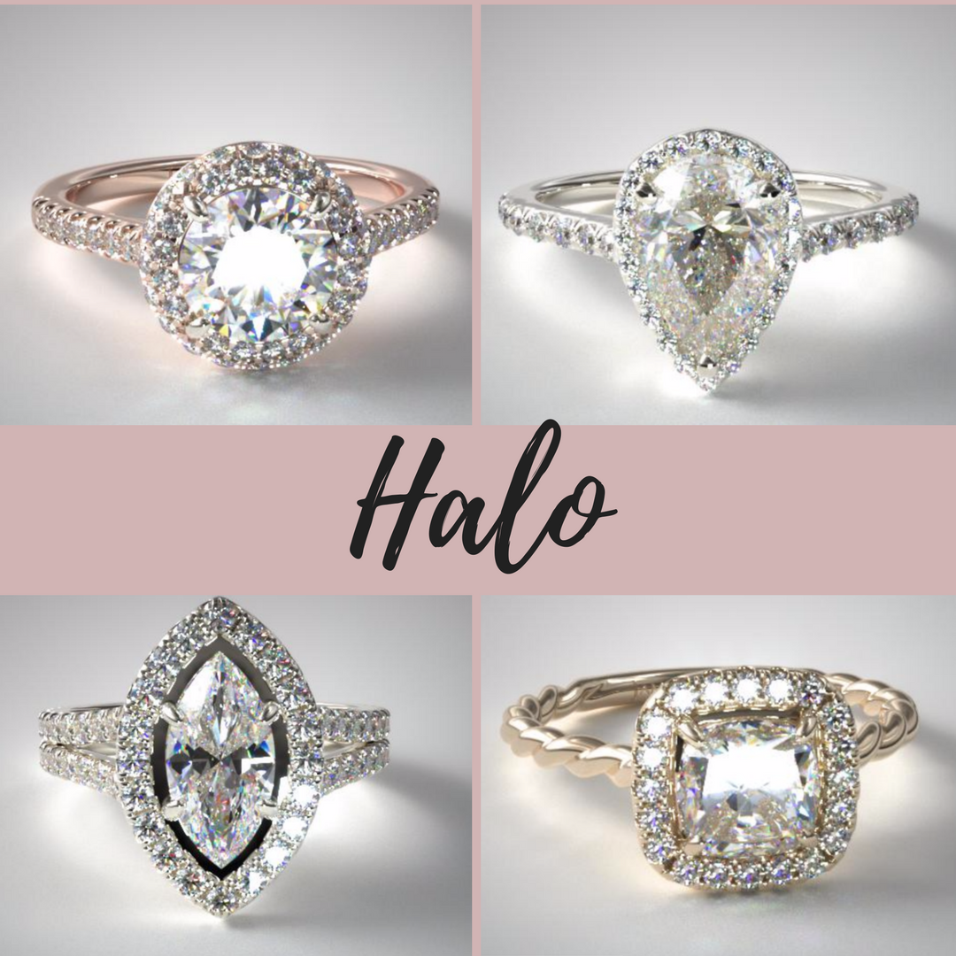 Halo Engagement Ring Settings