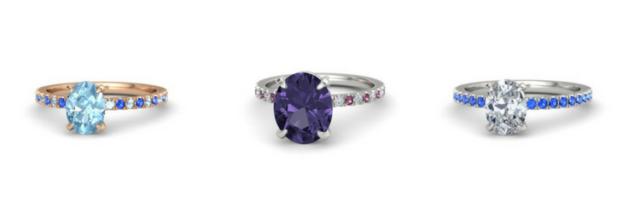 Gemstone Pave Rings from Gemvara