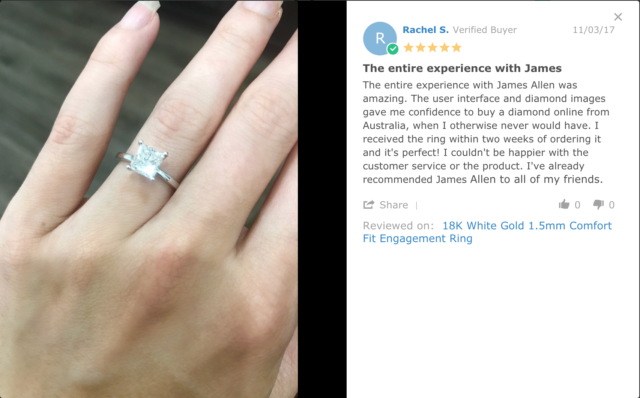 James Allen engagement rings in Australia