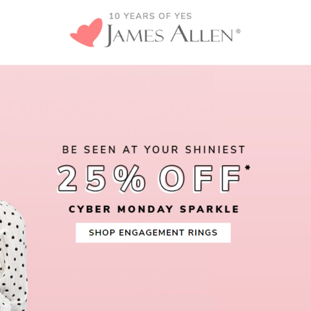 James Allen Cyber Monday Sale