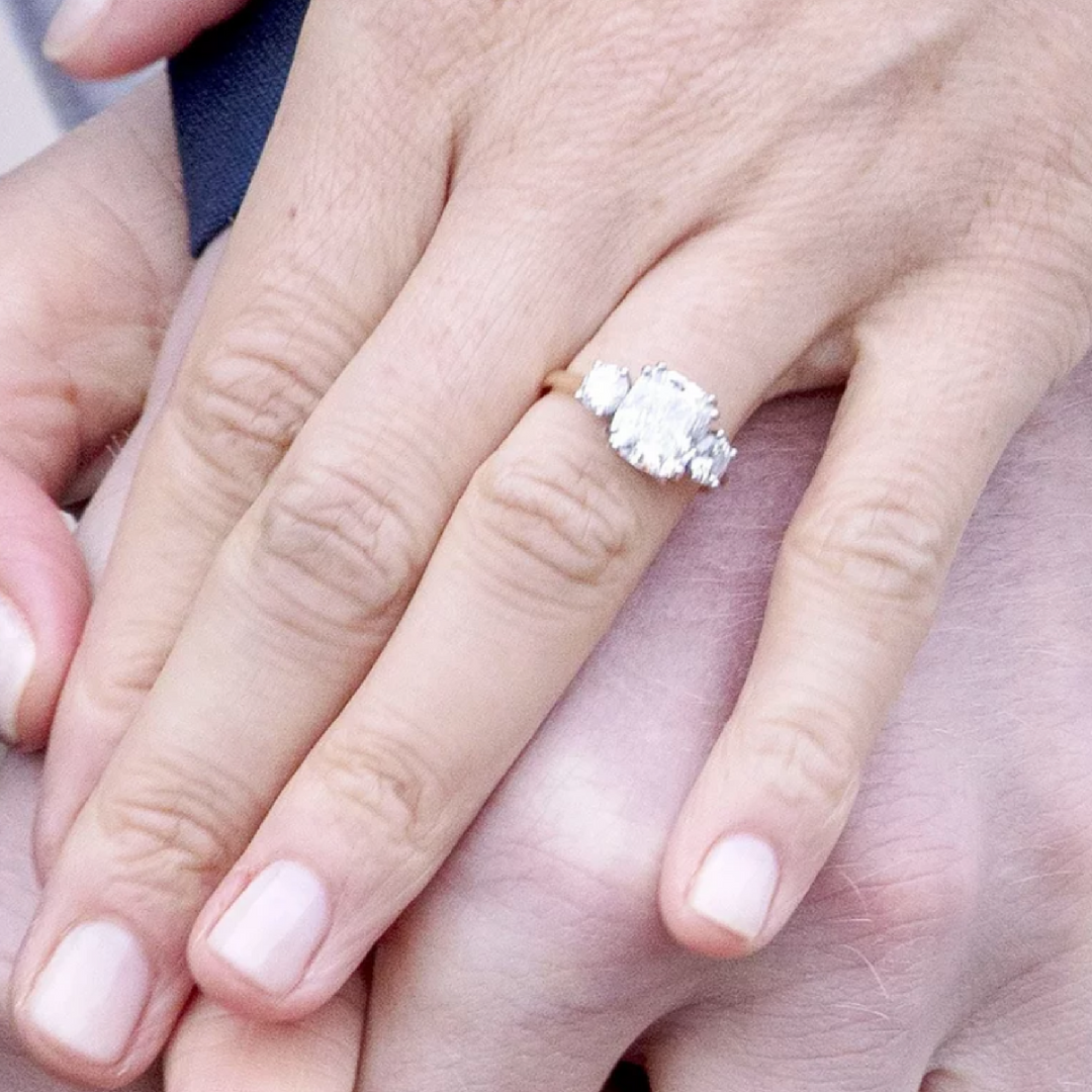 What shape is Meghan Markles Engagement Ring