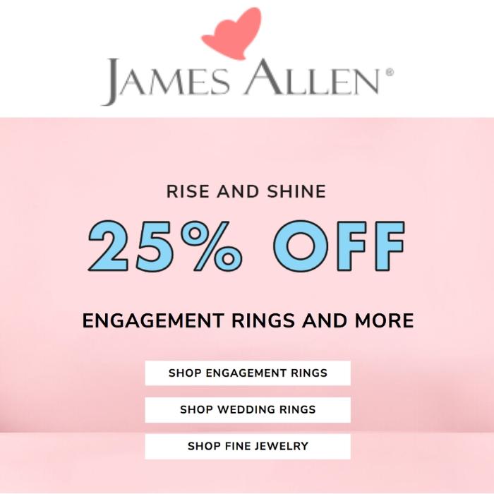 James Allen Mother's Day Sale
