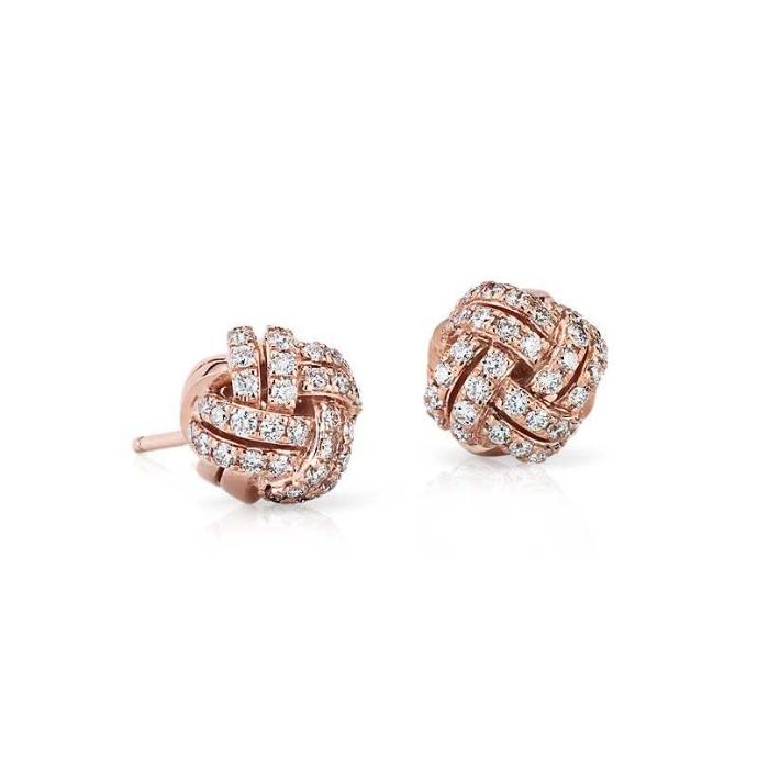 Blue Nile Love Knot Diamond Stud Earrings