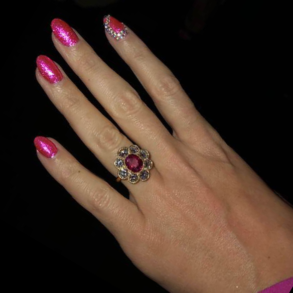 Katy Perry Cluster Engagement Ring