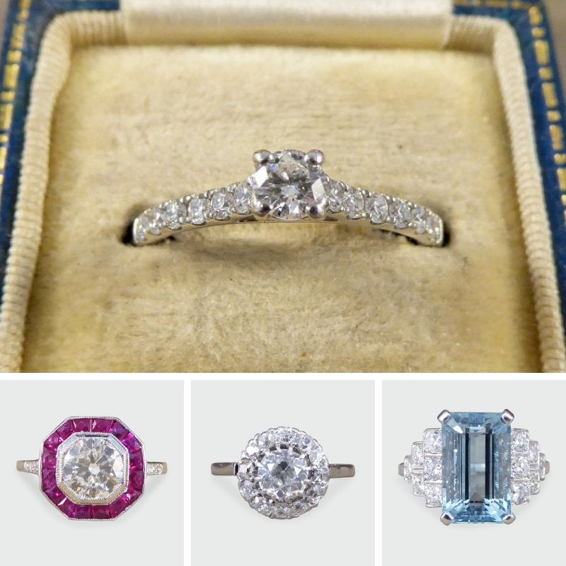 Vintage Engagement Rings on Etsy