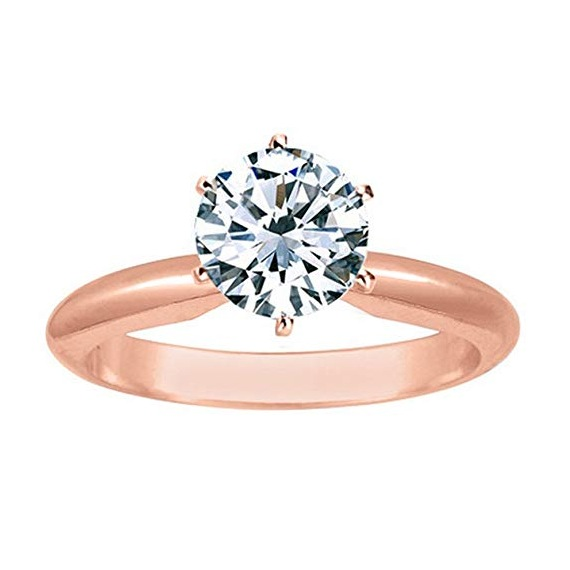 Rose Gold Solitaire Under 2000