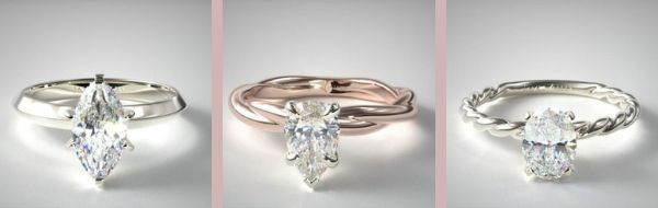 Elongating Engagement Rings