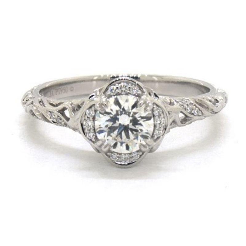 Vintage Style Diamond Engagement Ring Under $5000