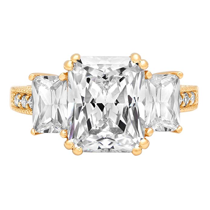 Celebrity look-alike fake engagement ring