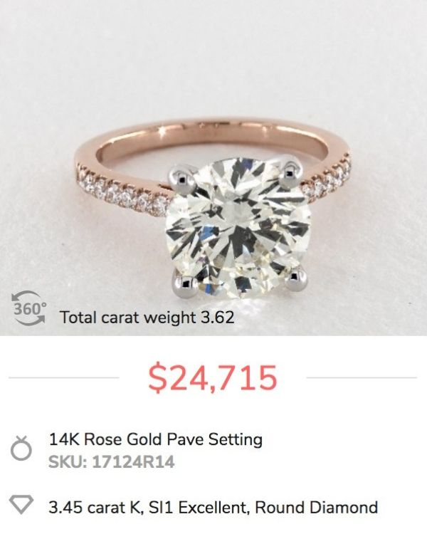 3 carat engagement ring cost