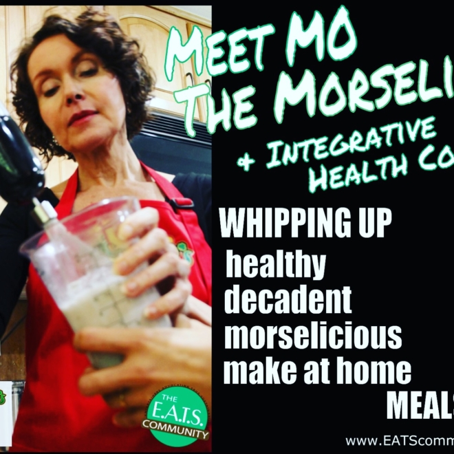 Health coach, Mo The Morselist, is whisking a healthy, decadent Morselicious make at home meal.