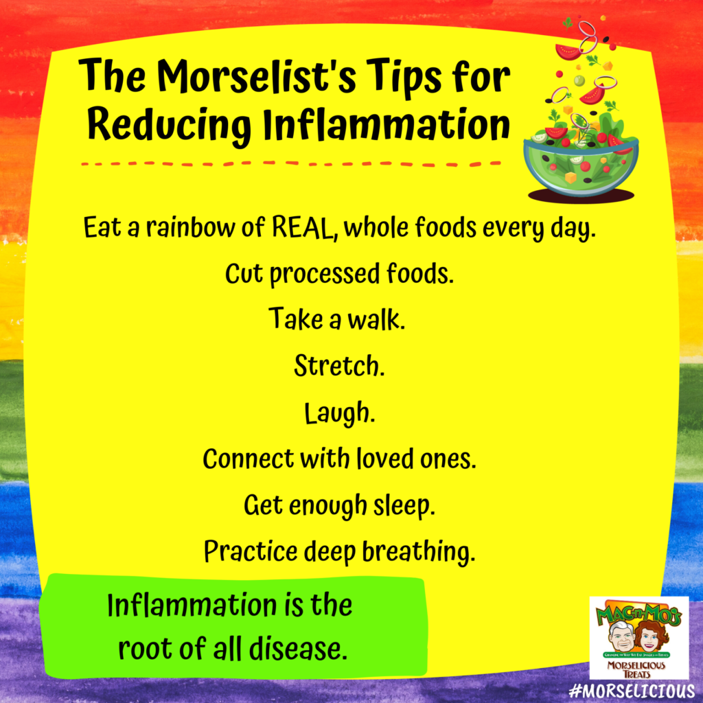 A Morselicious Rainbow Connection to Reducing Inflammation
