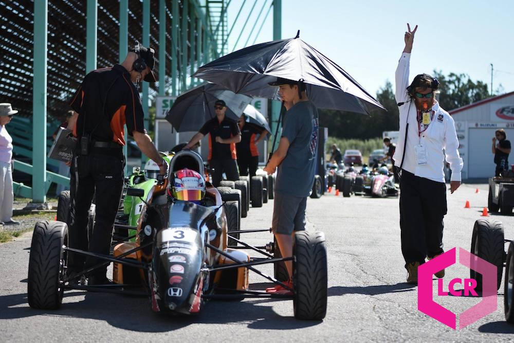 Keeping the sun off drivers at Shannonville Motorsport Park
