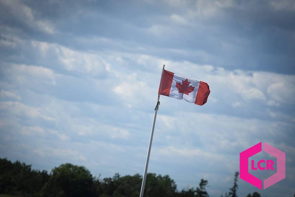 Canadian Flag flying at Shannonville Motorsport Park