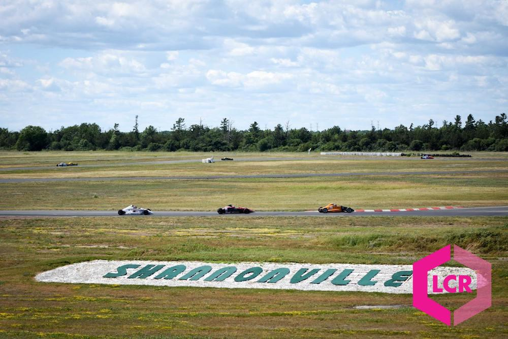 View of the Shannonville Motorsport Park sign and race track