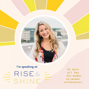 Jenna Curry Presenting at the 2019 Rise and Shine Conference