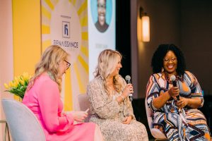 Lindsay Harkey, Live Oak Bank and Sheri Shaw, UNCW at Rise and Shine Conference 2019