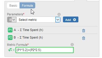 Custom Formula Metrics