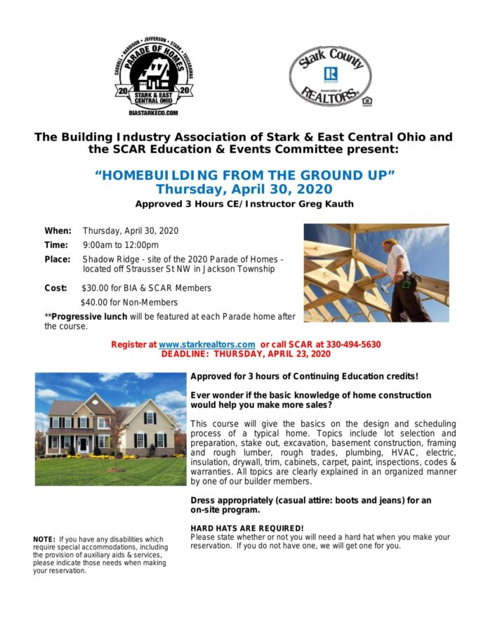 Homebuilding From the Ground Up CE Class