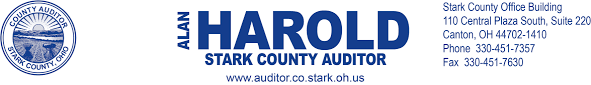 Letter from Stark County Auditor