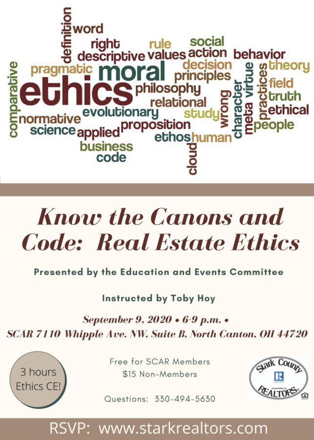Know the Canons and Code:  Real Estate Ethics