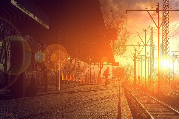 Futuristic trainscape on Prog Rock Dock for Ain't Nobody Got Love on a Real Train mix by Sebastian
