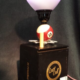 Looking for unique gifts for your husband? Try this black Last Call Cigar Box Lamp--with a Pool Ball and Cue as well as 4 USB charging ports, it's the right shot to take!
