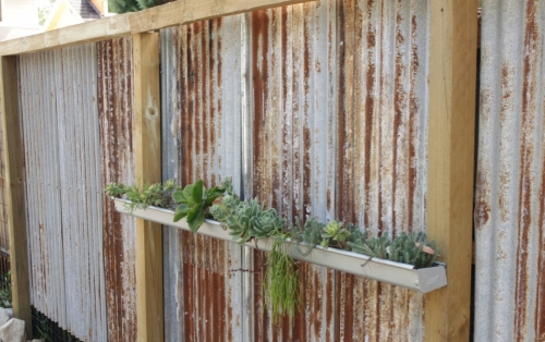 Recycled corrugated iron