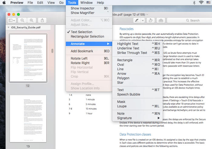 edit pdf with preview