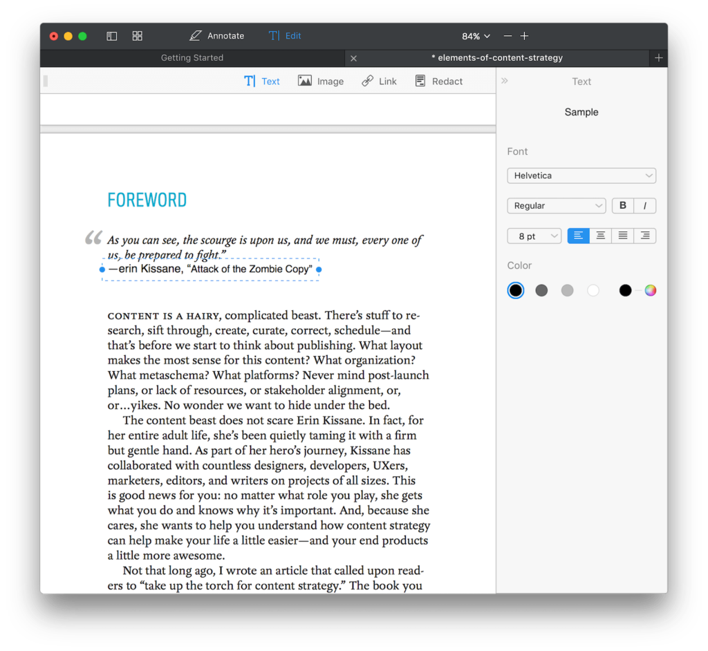 edit pdf text with PDF Expert