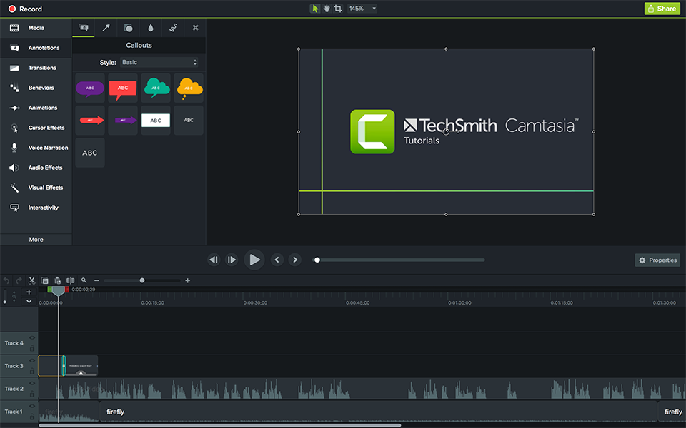 TechSmith Camtasia screenshot