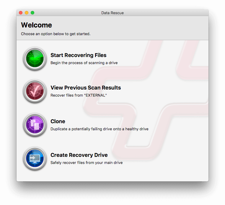 best data recovery software Mac - Data Rescue for Mac