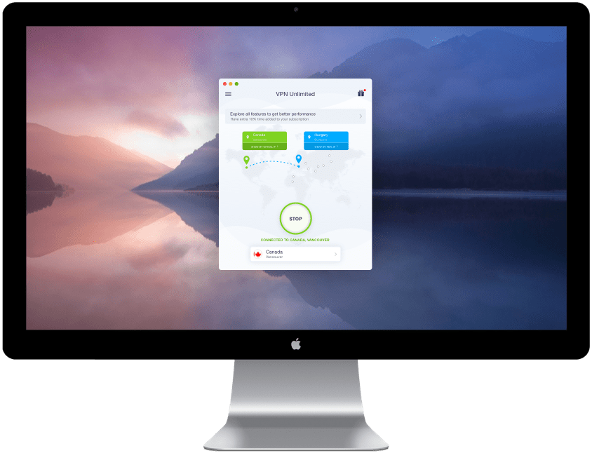 top 3 best vpn app for mac - VPN Unlimited scr